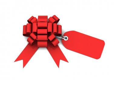 Gift bow with price tag