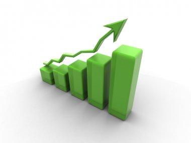 Business finance chart, graph, diagram