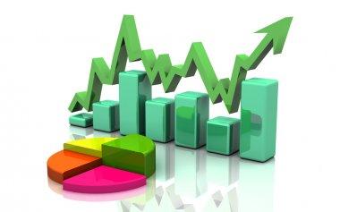 Business finance chart, graph, diagram,