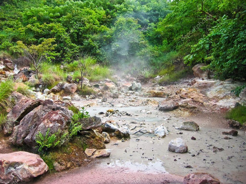 Volcanic mud pool