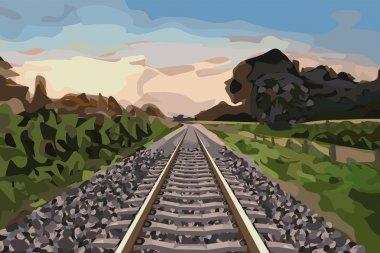 Rural railway track