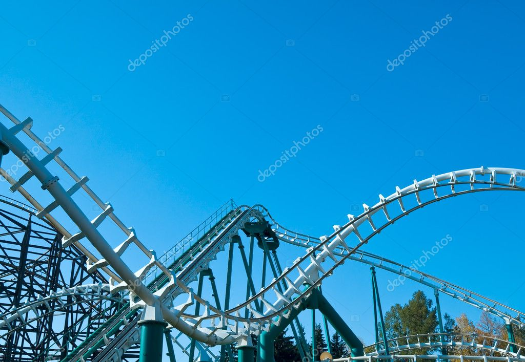 Curved coaster construction