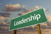 Cartello verde di leadership