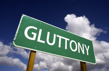 Gluttony Green Road Sign