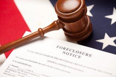 Gavel, American Flag, Foreclosure Notice