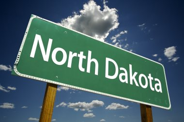 North Dakota Road Sign