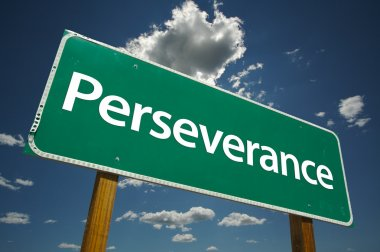 Perseverance Green Road Sign