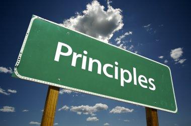 Principles Green Road Sign