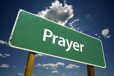 Prayer Green Road Sign