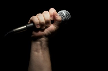 Man Holding Microphone in Fist