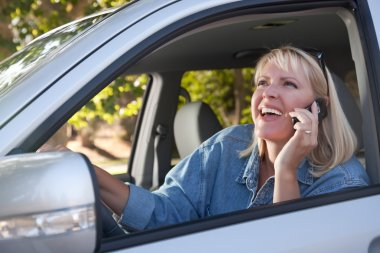 Girl on Cell Phone While Driving