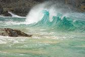 burácení vln na poli na pali coast