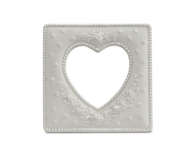 White Heart Shaped Frame Isolated on a White