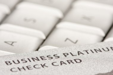 Business Credit Card On Laptop