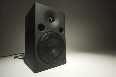 Abstract of Stereo Speaker on Grey