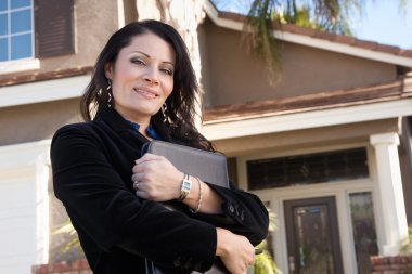 Attractive Hispanic Real Estate Agent
