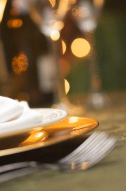 Elegant Dinner Setting Background