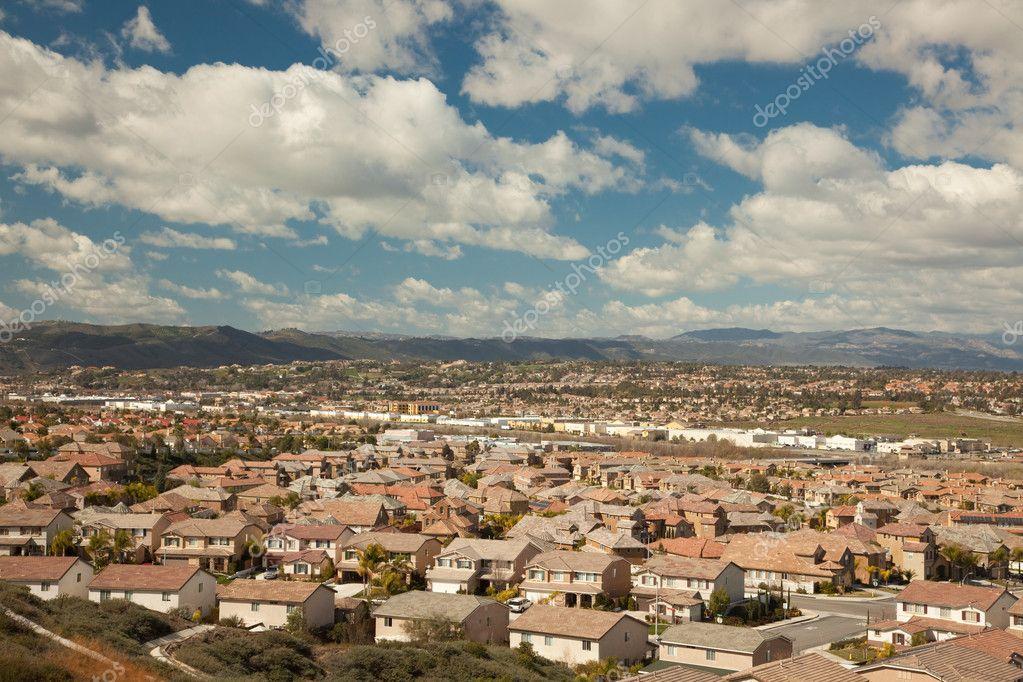 Elevated View of New Contemporary Suburban Neighborhood