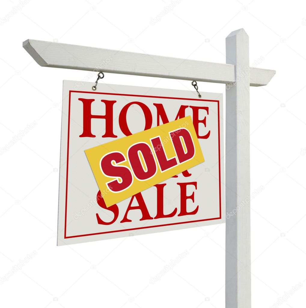 For Sale Sold Sign: Sold Home For Sale Real Estate Sign