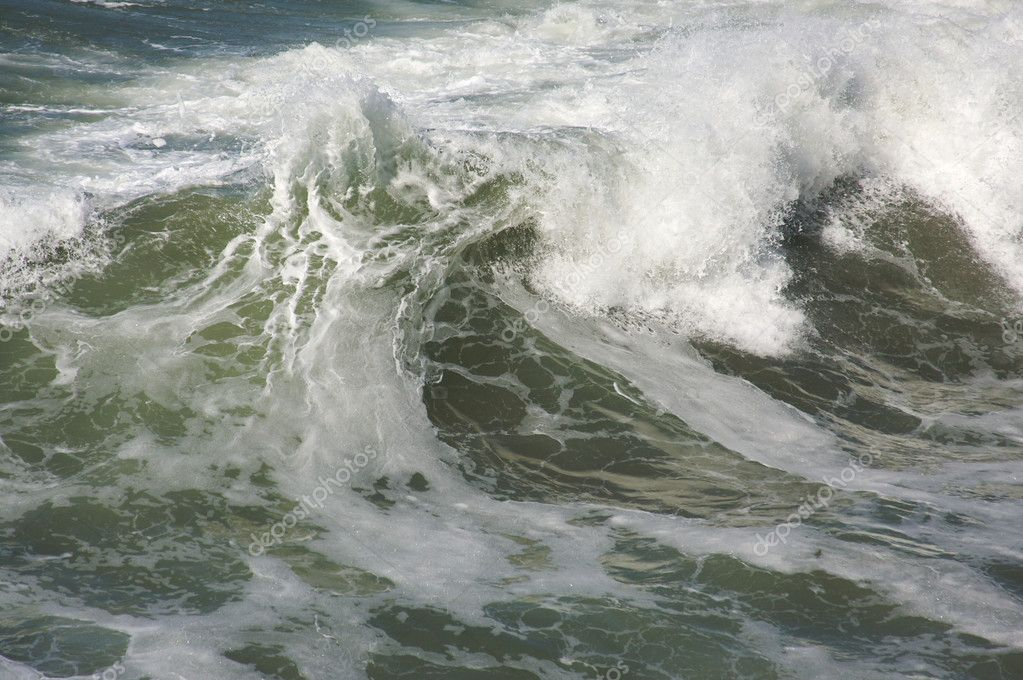 Rough Pacific Ocean Waves