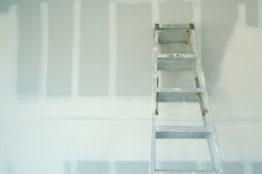 New Sheetrock Drywall and Ladder