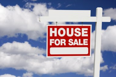 Home For Sale Real Estate Sign on Clouds