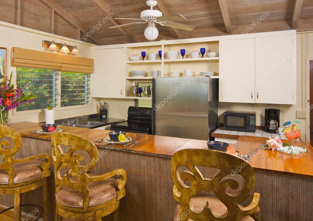 Tropical Kitchen Interior