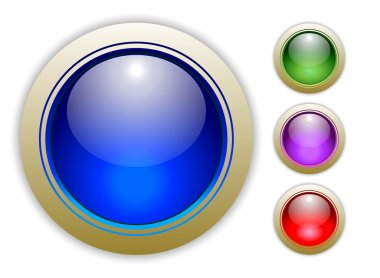 Set Colorful Vector Buttons