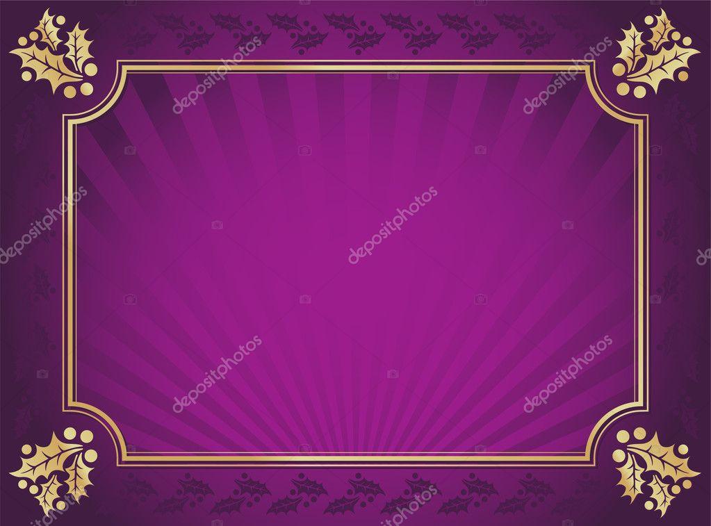 purple and gold elegant holly background stock vector. Black Bedroom Furniture Sets. Home Design Ideas