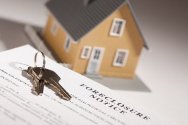 Foreclosure Notice, House Keys and Home