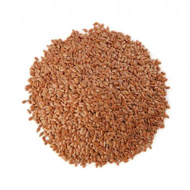 Pile of flax seeds