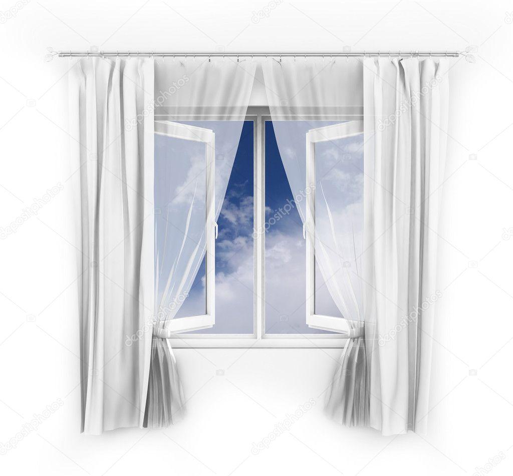 Offenes fenster himmel  Offenes Fenster Abbildung — Stockfoto © aspect3d #2335254