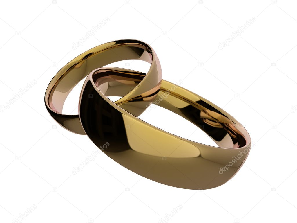 Interlinked gold rings Stock Photo aspect3d 2341082