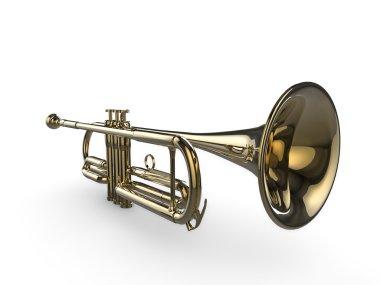Shiny 3d trumpet