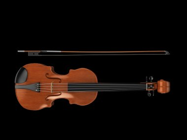 Violin from above