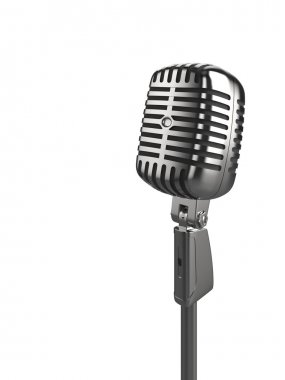 illustration of a retro microphone
