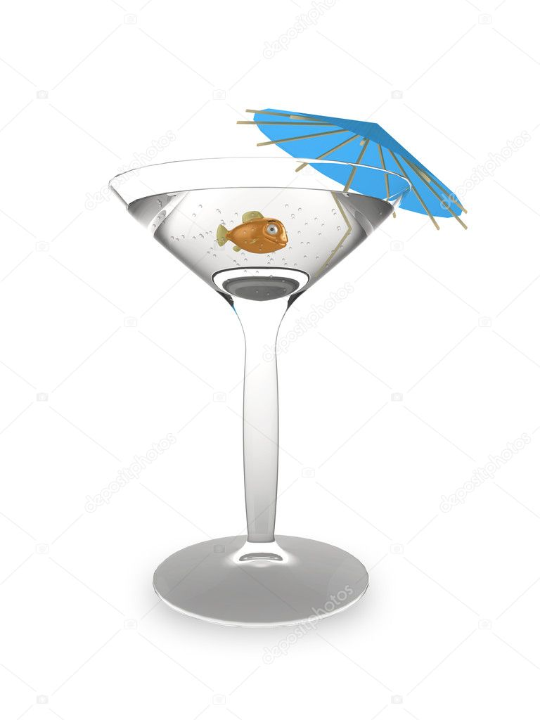 Goldfish Cocktail Glass