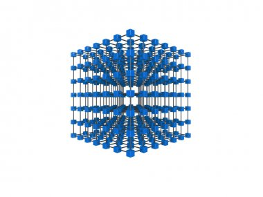 Cube network illustration