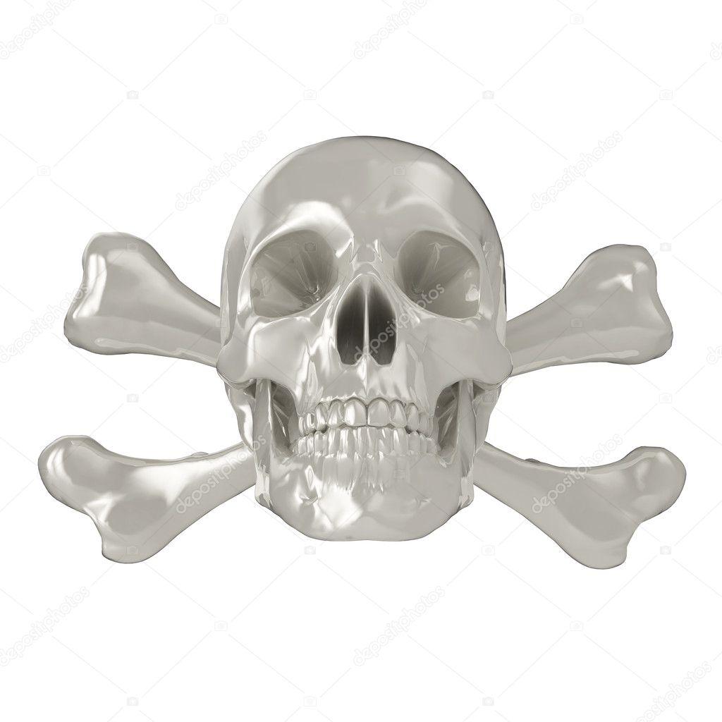 3d skull and crossbones — Stock Photo © aspect3d #2591371