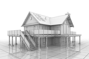3D Blueprint House