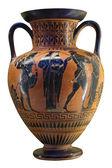 Fényképek ókori görög váza fekete felső piros kerámia