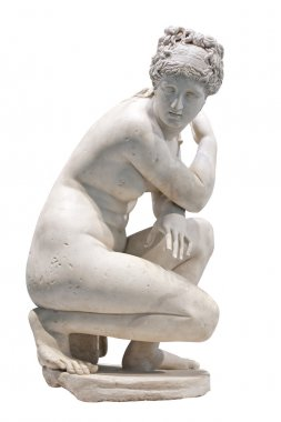 Ancient marble statue of a nude woman