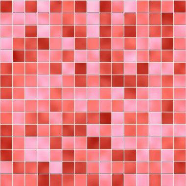 Seamless red tiles texture