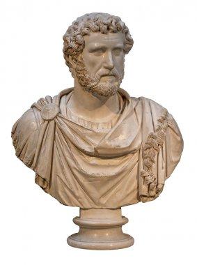 Marble bust of the roman emperor Antoninus Pius