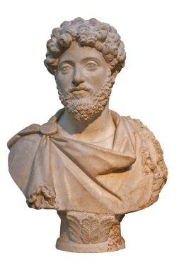 Marble bust of the roman emperor Marcus Aurelius