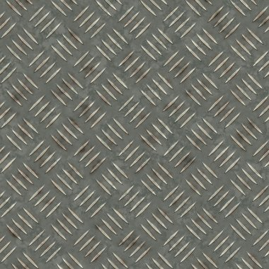 Seamless rusty metallic panel texture