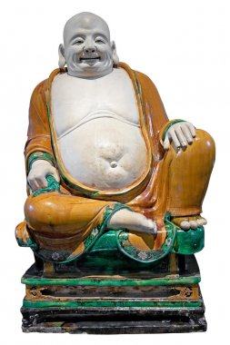 Ancient chinese laughing buddha statue