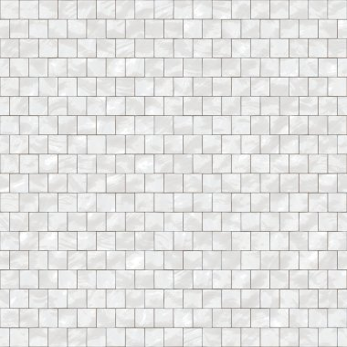Shiny seamless white tiles texture