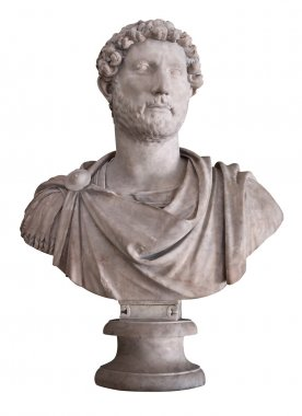 Marble bust of the roman emperor Hadrian