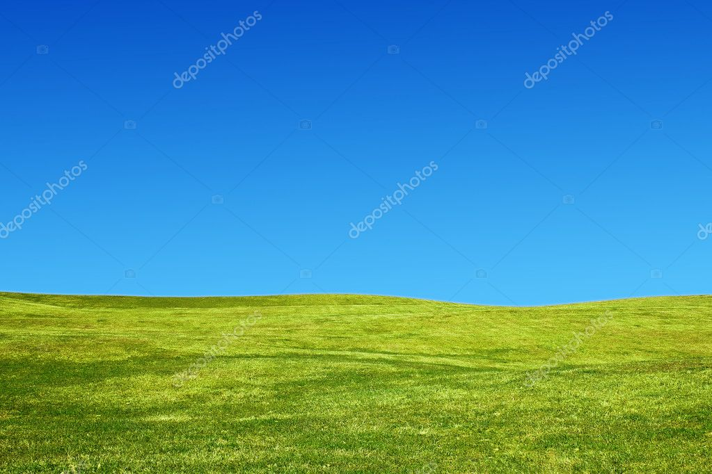 Landscape with hills and a clear sky